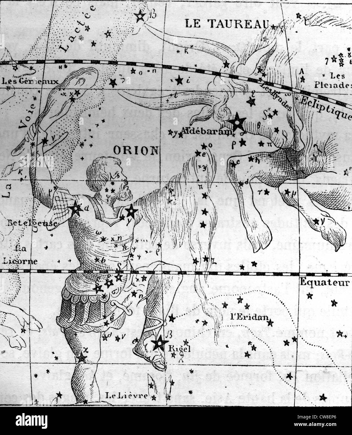 Map of constellations - Stock Image