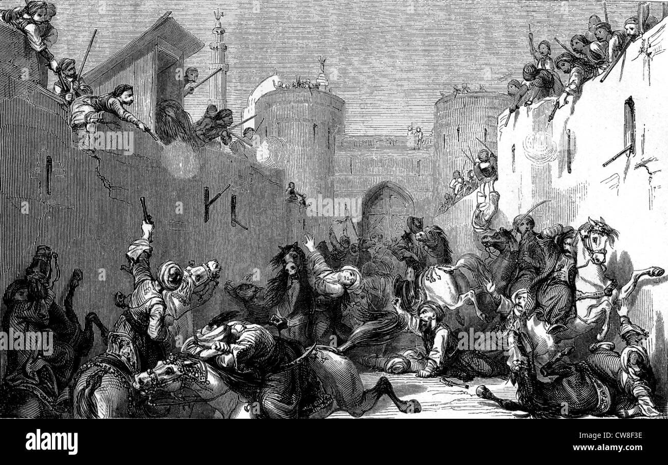 The Massacre of the Citadel (Mamluks), 1811 - Stock Image