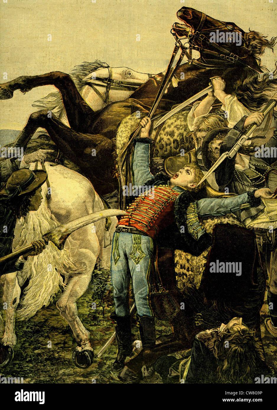 Assassination of Joseph Bara, 1793 - Stock Image