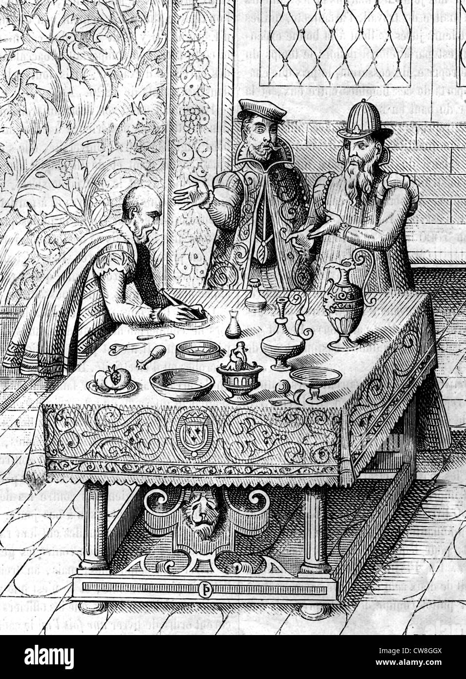 Physicians of the King of France, 15th century Stock Photo