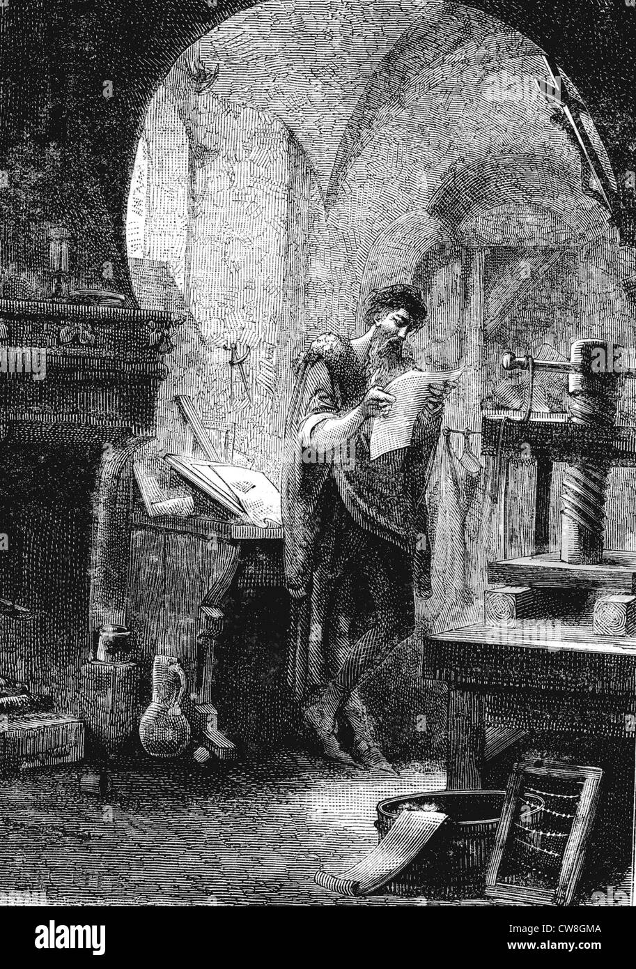 Johannes Gutenberg High Resolution Stock Photography and ...