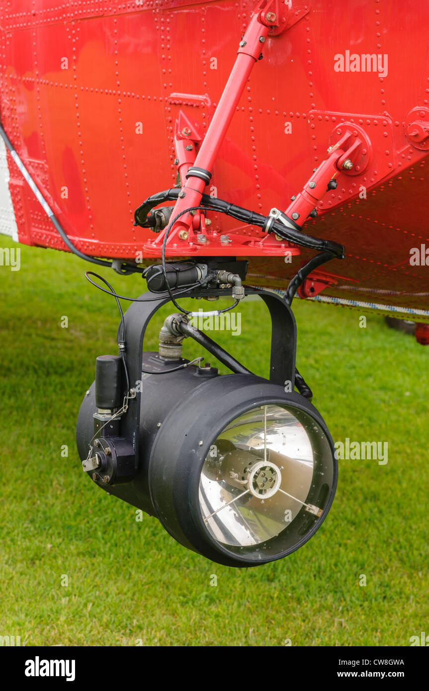 Searchglight on the Irish coastguard Sigorsky S-61N Stock Photo