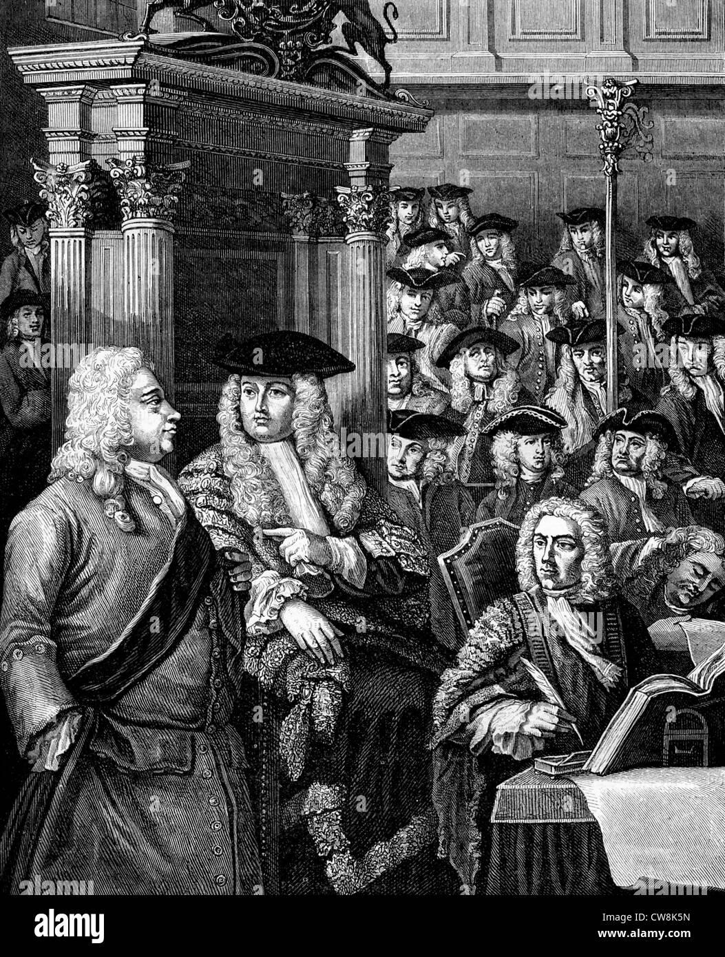 Sir Robert Walpole - Stock Image
