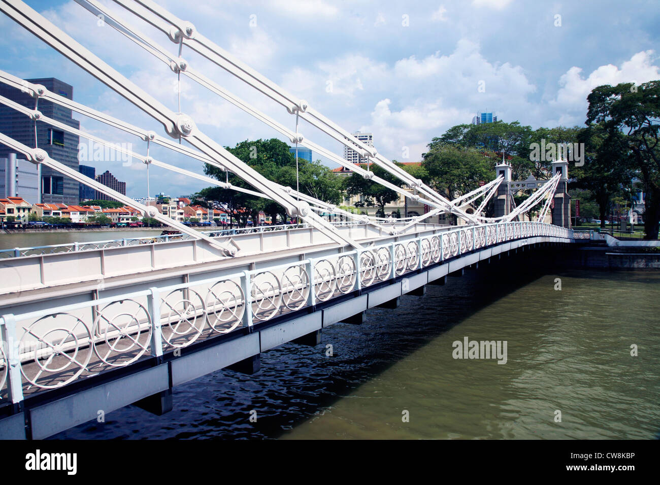 Asia Singapore Cavenagh Bridge - Stock Image