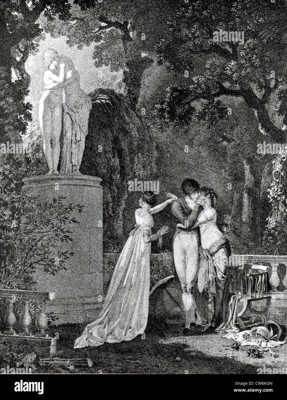 Engraving by Dutailly, Imitation of Antiquity - Stock Image