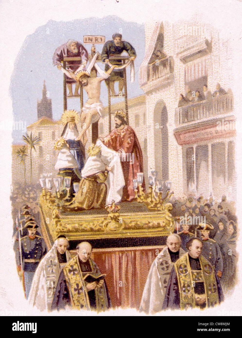 Catholic ceremonies, advertisement - Stock Image