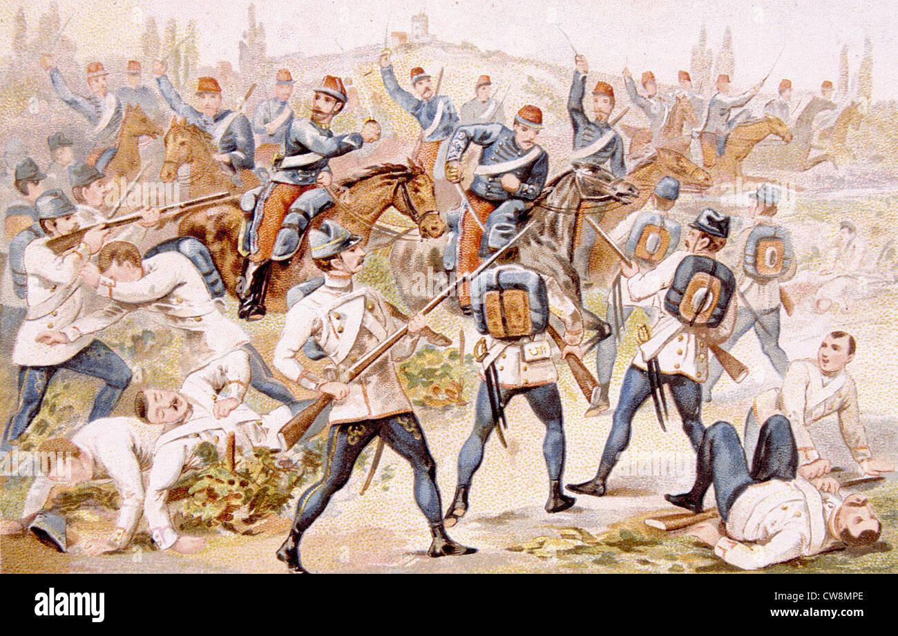 Battle of Solferino (1859), advertisement - Stock Image