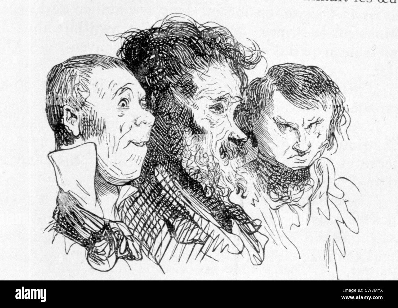 Caricatures by Gustave Doré - Stock Image
