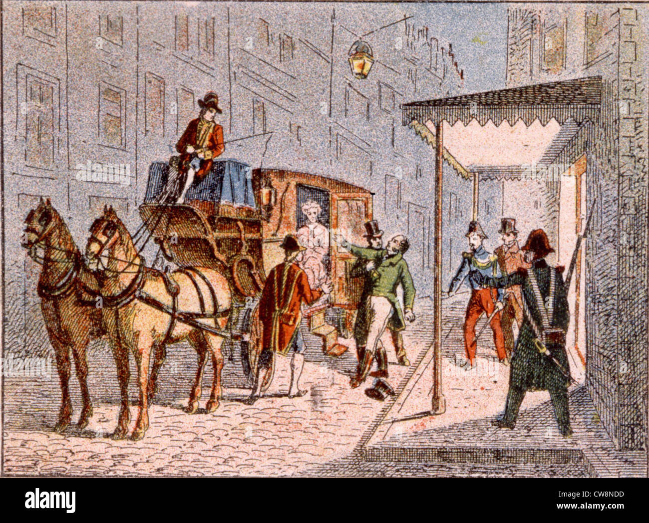 Assassination of the Duke of Berry - Stock Image