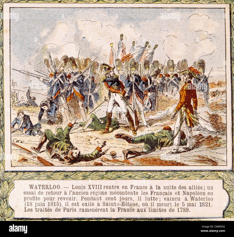 Napoleonic Wars, illustrations - Stock Image