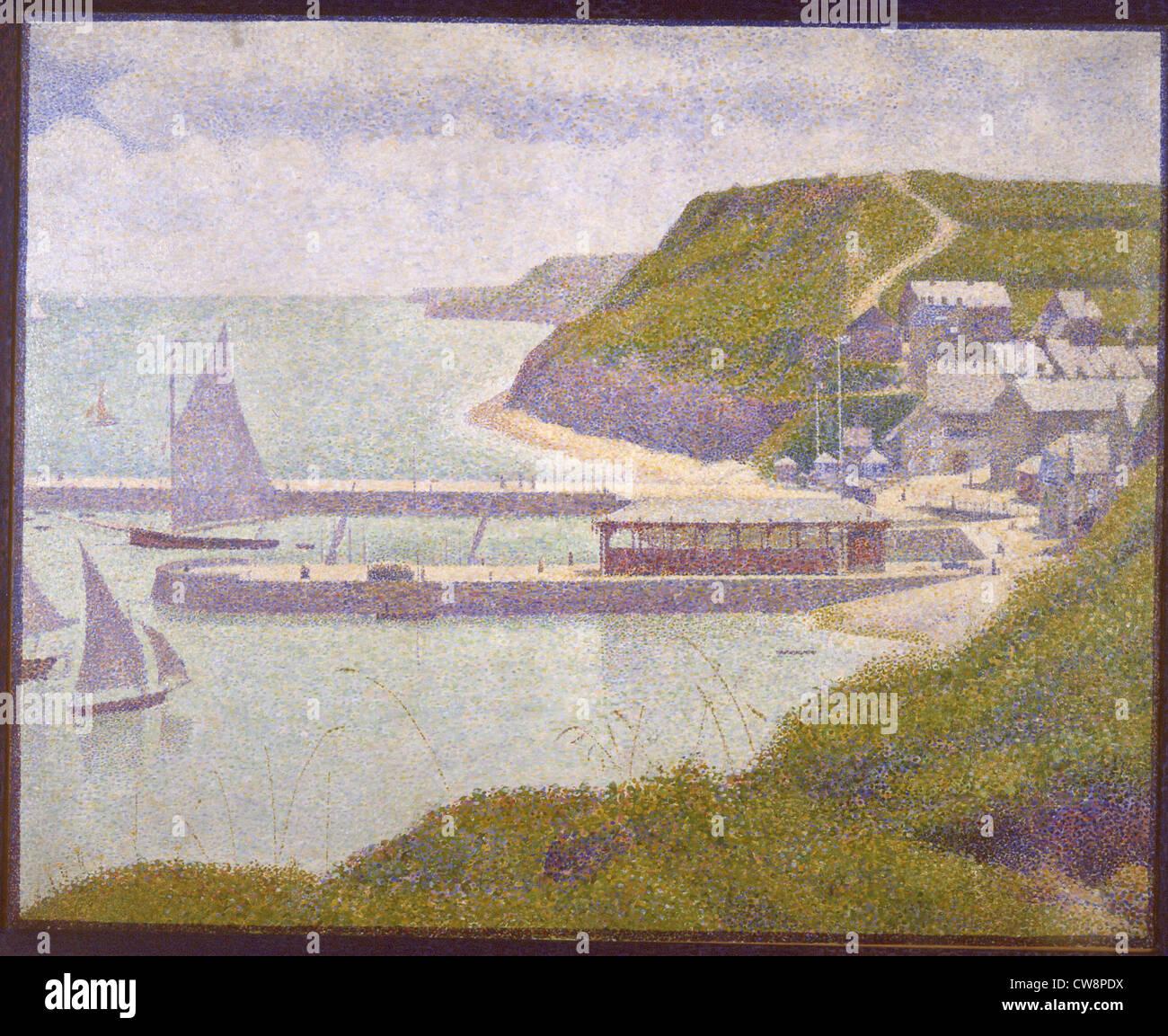 Seurat, Port-en-Bessin, outer harbor - Stock Image