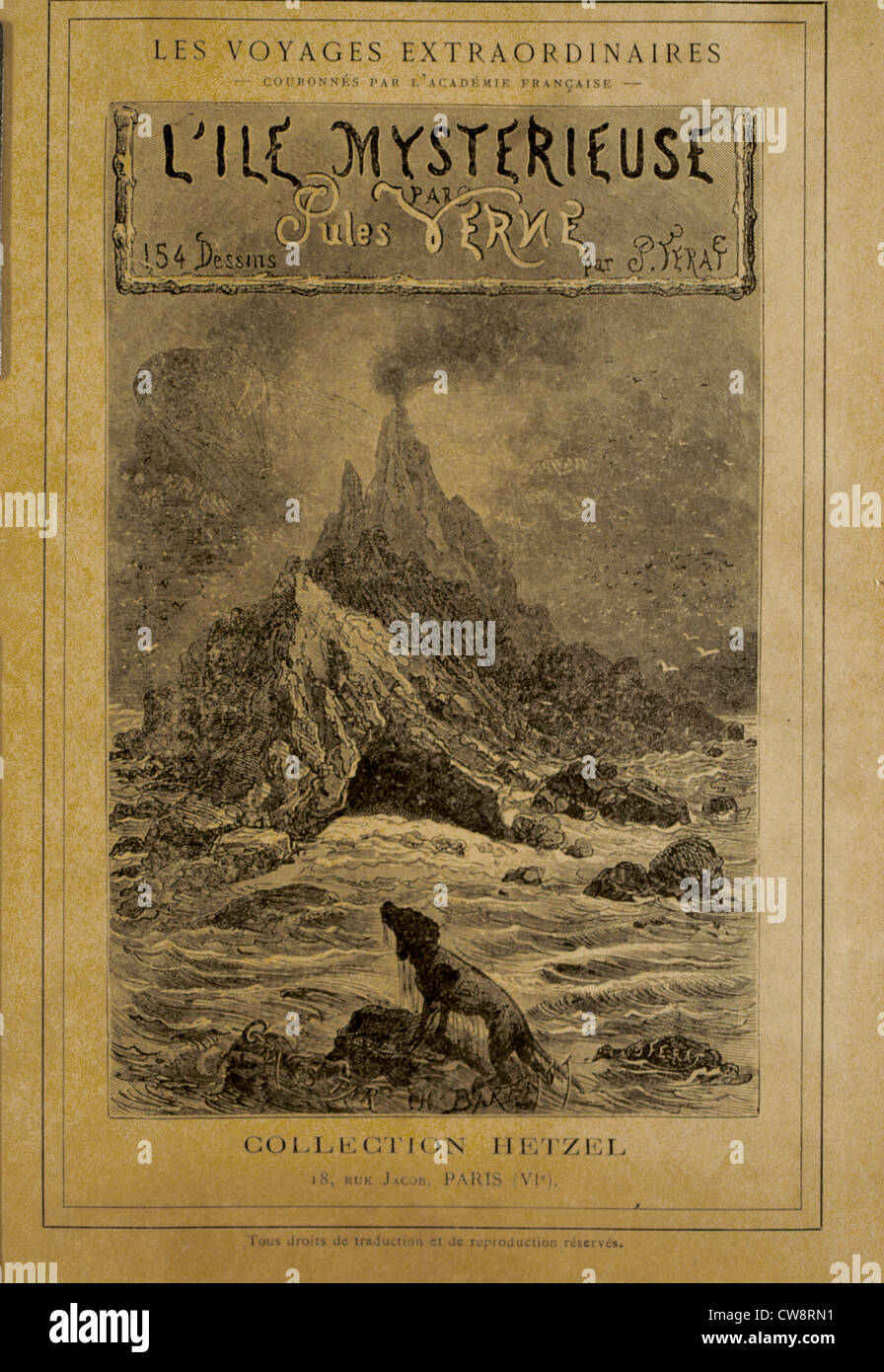 Mysterious Island, Frontispiece - Stock Image