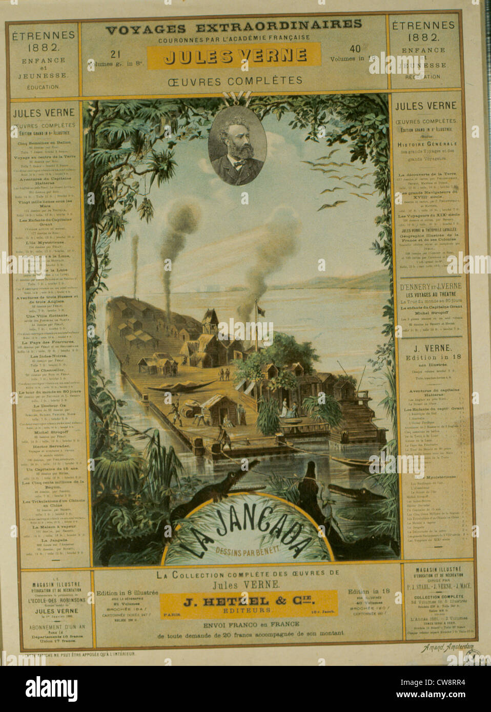 Advertising poster Hetzel-Etrennes collection 1882 - Stock Image
