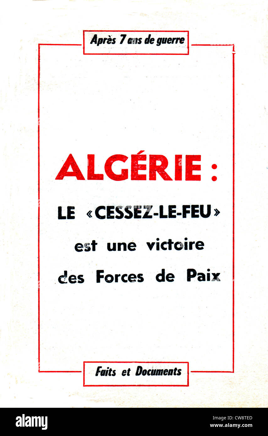 Booklet published by the French Communist Party - Stock Image