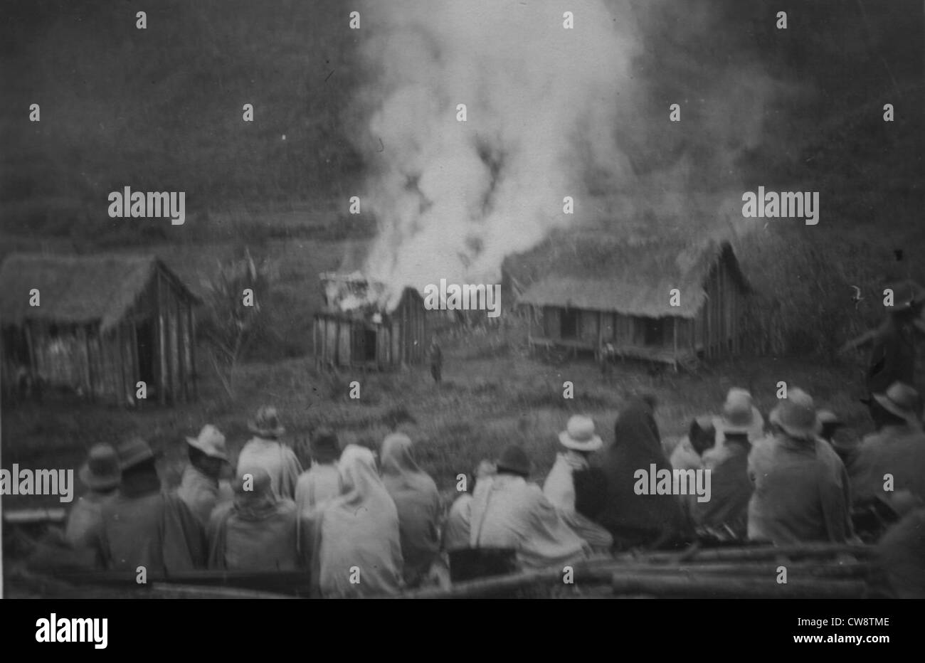 Repression, villages burned by the army - Stock Image