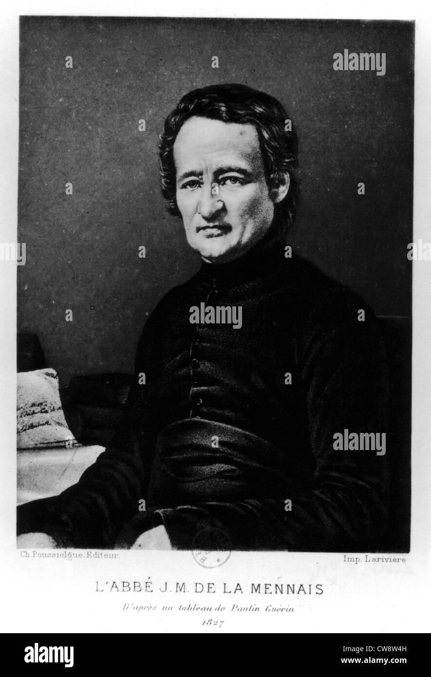 Abbot Félicité Robert de Lamenais in 1827 - Stock Image