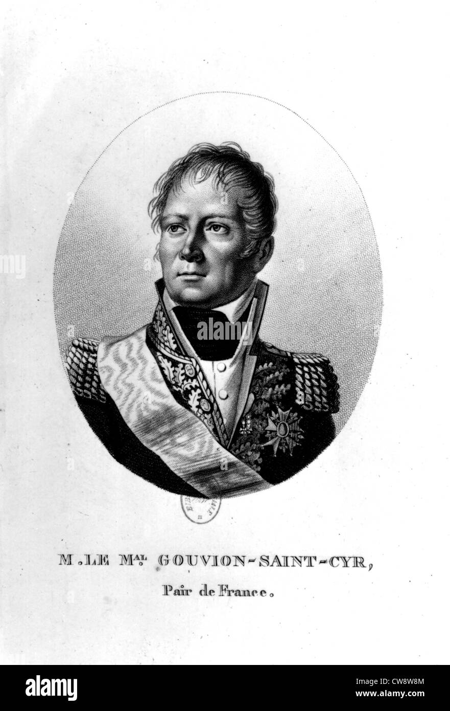 Marshal Gouvion Saint-Cyr - Stock Image