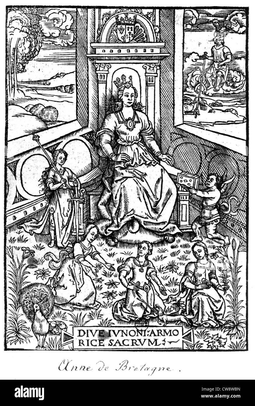 Woodcut by Jean Lemaire de Belges - Stock Image