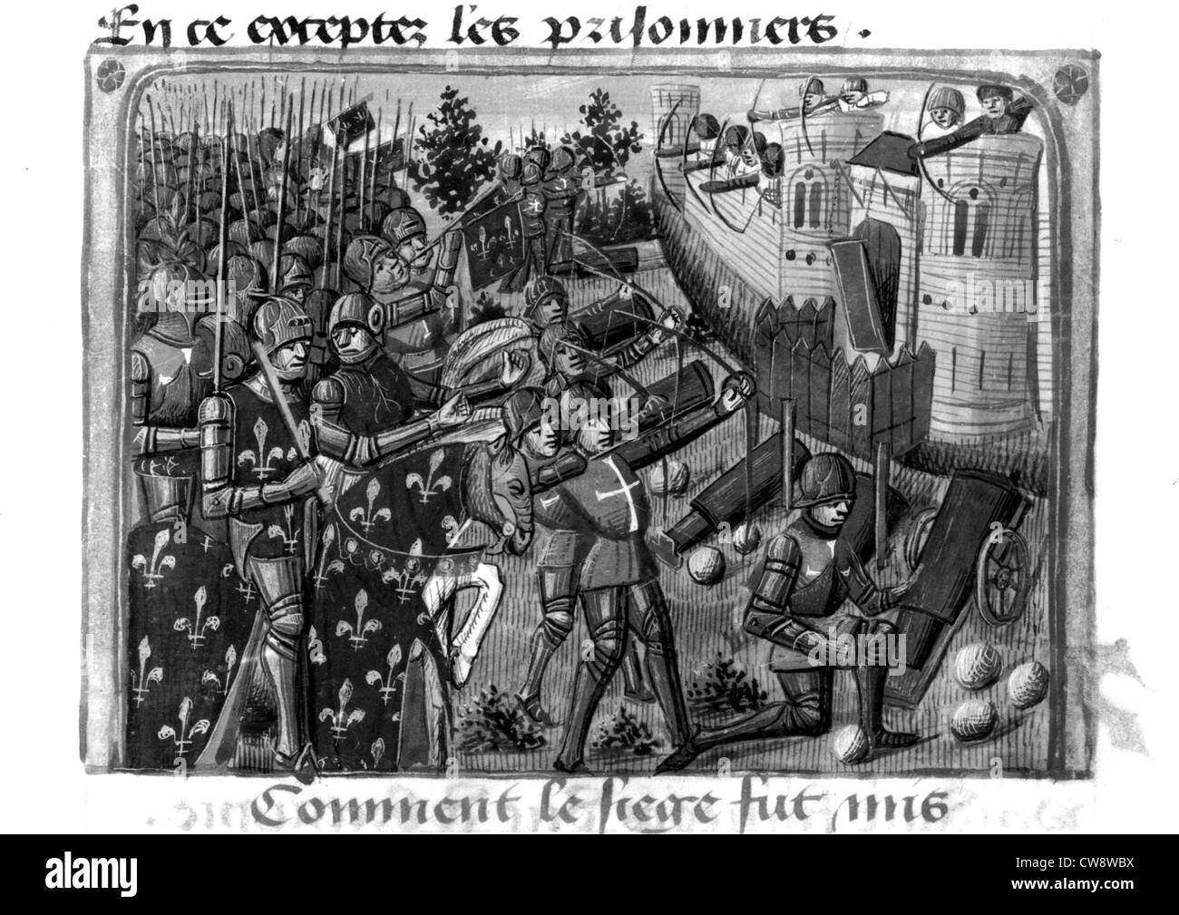 Siege of Cherbourg - Stock Image