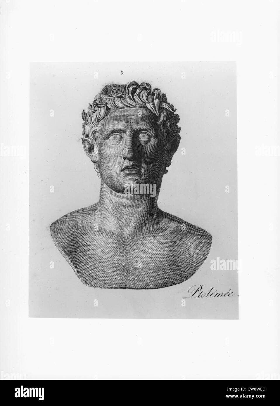 Bust of Ptolemy the 1st - Stock Image