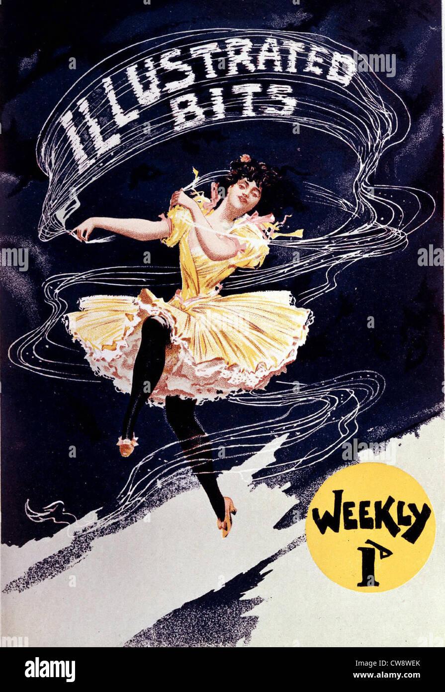 English advertising poster illustrated magazine - Stock Image