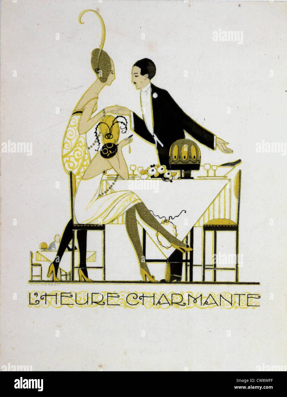 Menus drawn by Plumereau - Stock Image