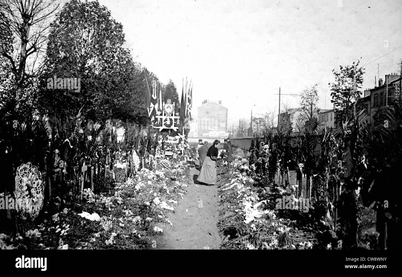Paris,  Ivry cemetary - All Saints Day - Stock Image
