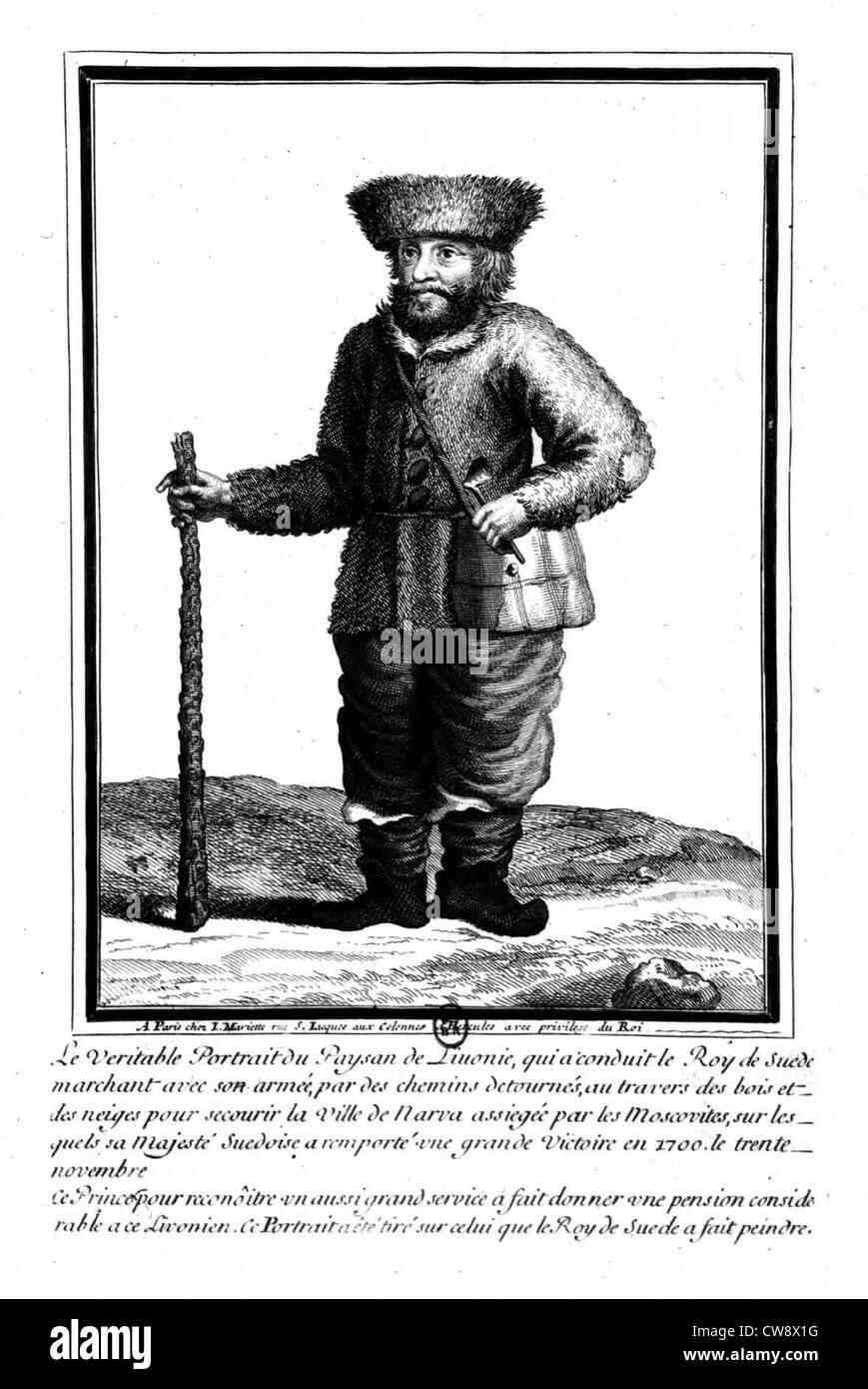 Livonian peasant - Stock Image