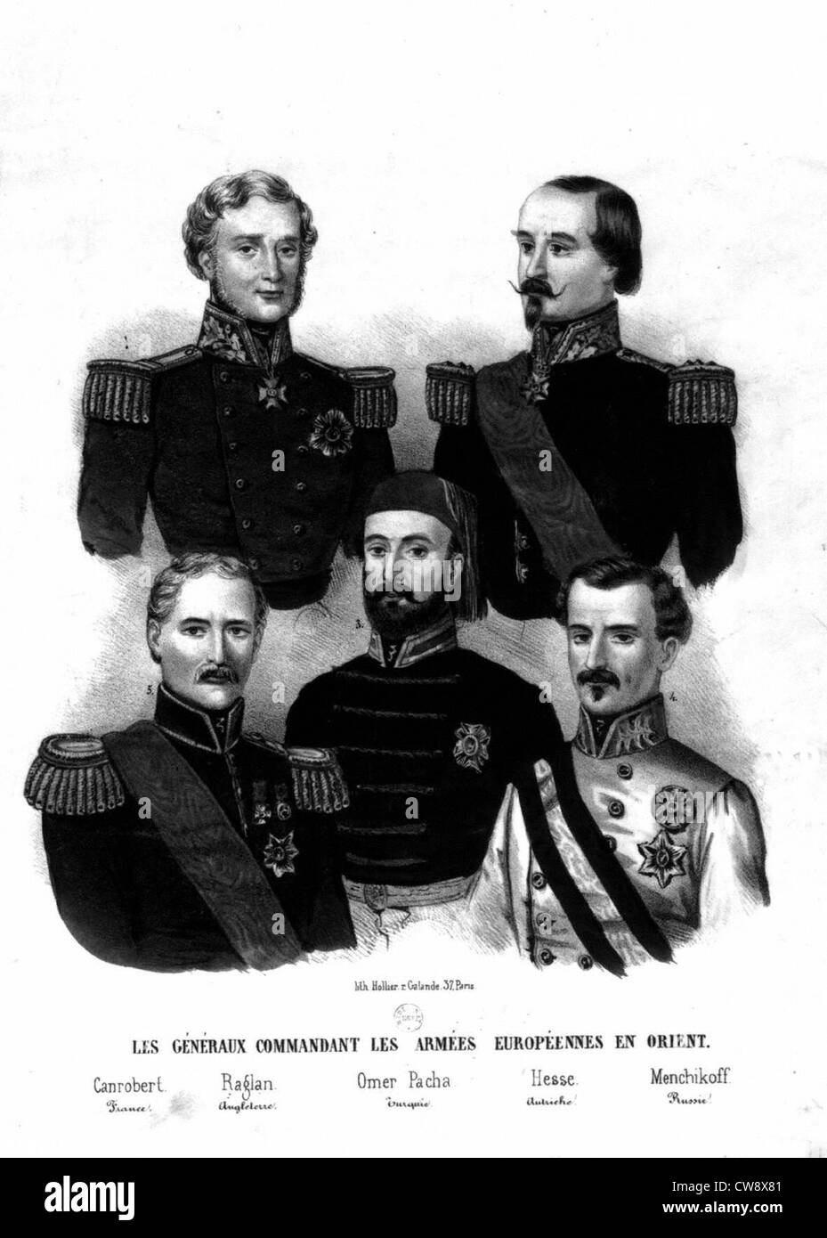 Generals of the European armies - Stock Image