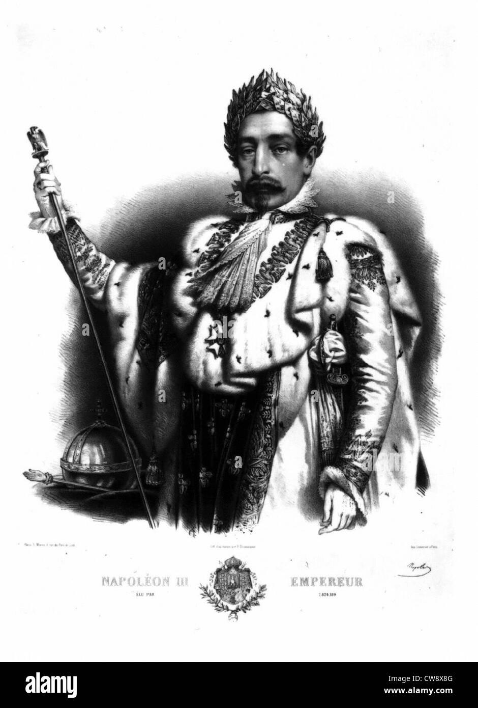 Napoleon III, emperor - Stock Image