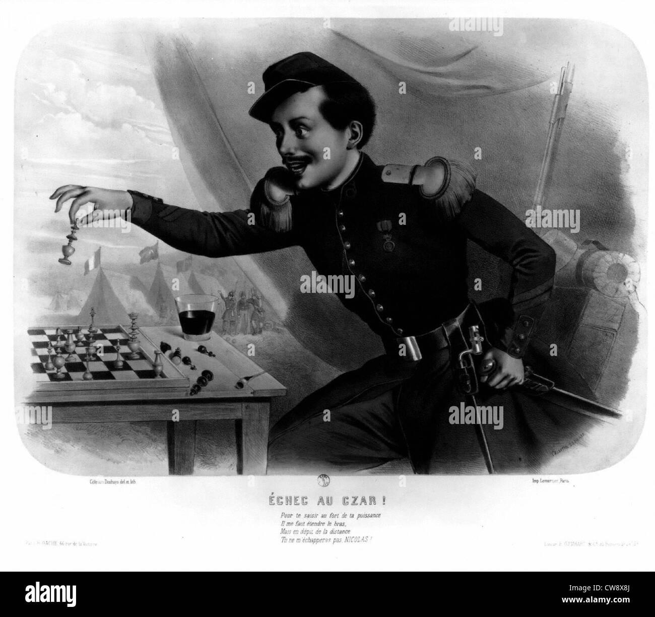 Crimean War : 'Check to the Tsar' - Stock Image