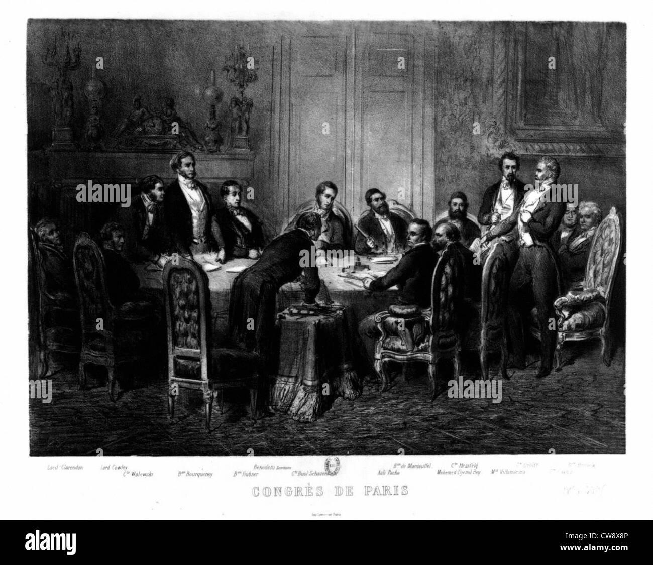 Crimean War, Paris Congress - Stock Image