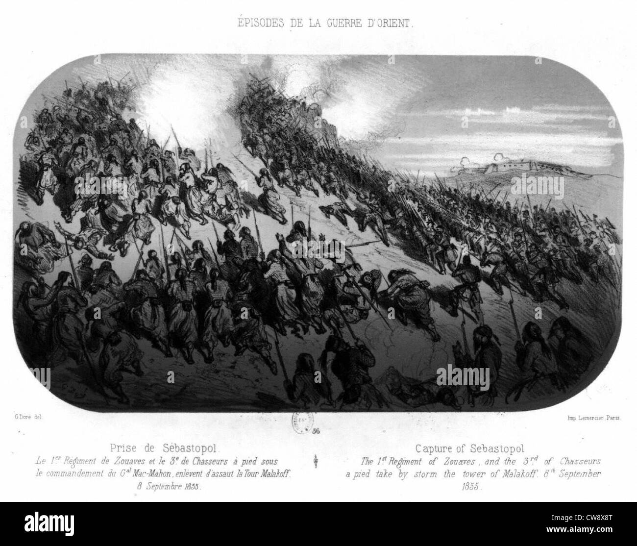 Crimean War, taking of Sebastopol - Stock Image