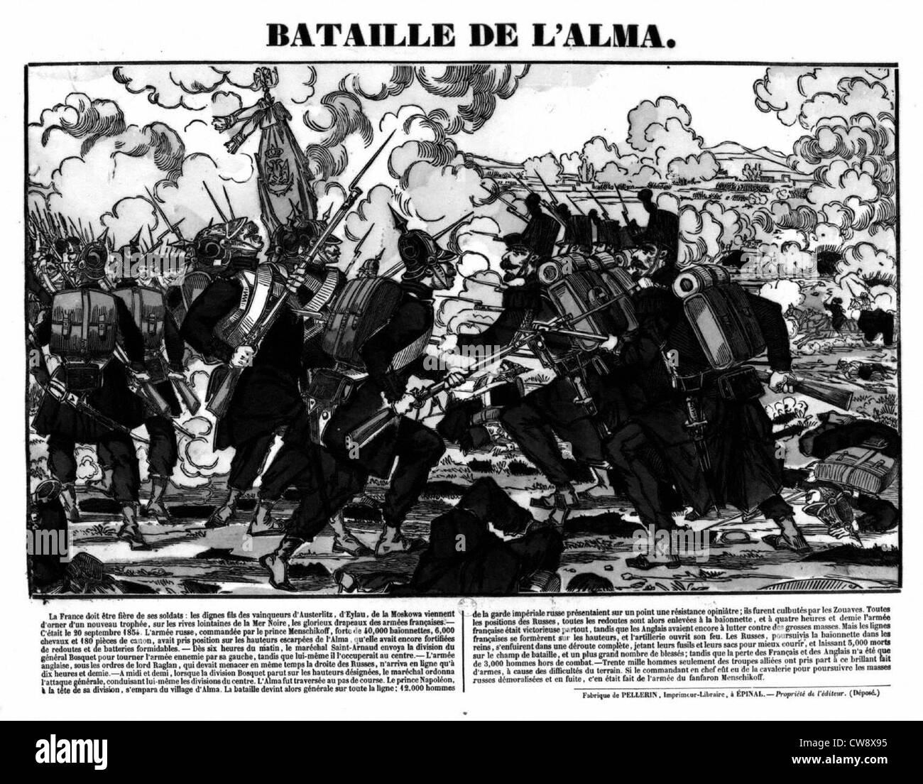 Crimean War, battle of Alma - Stock Image