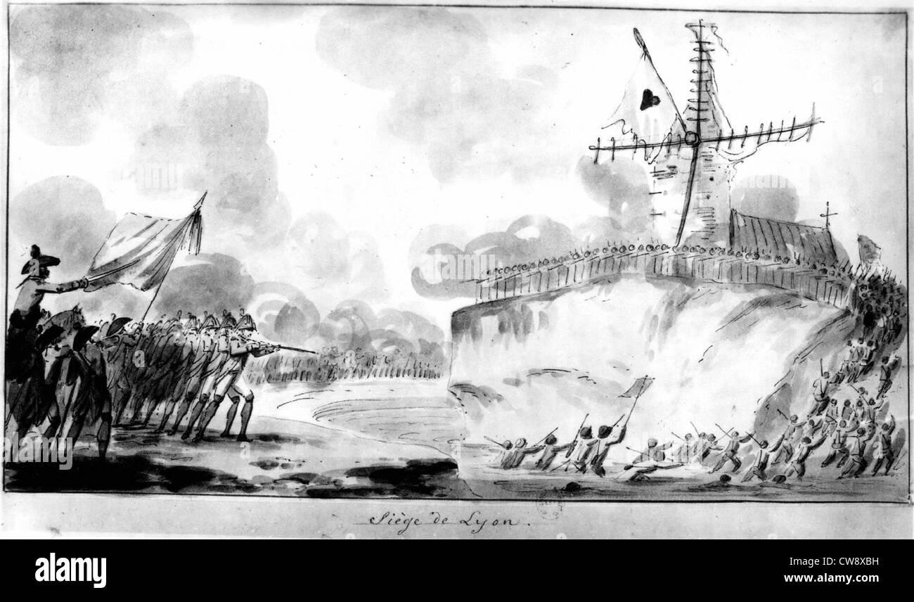 Siege of Lyons - Stock Image