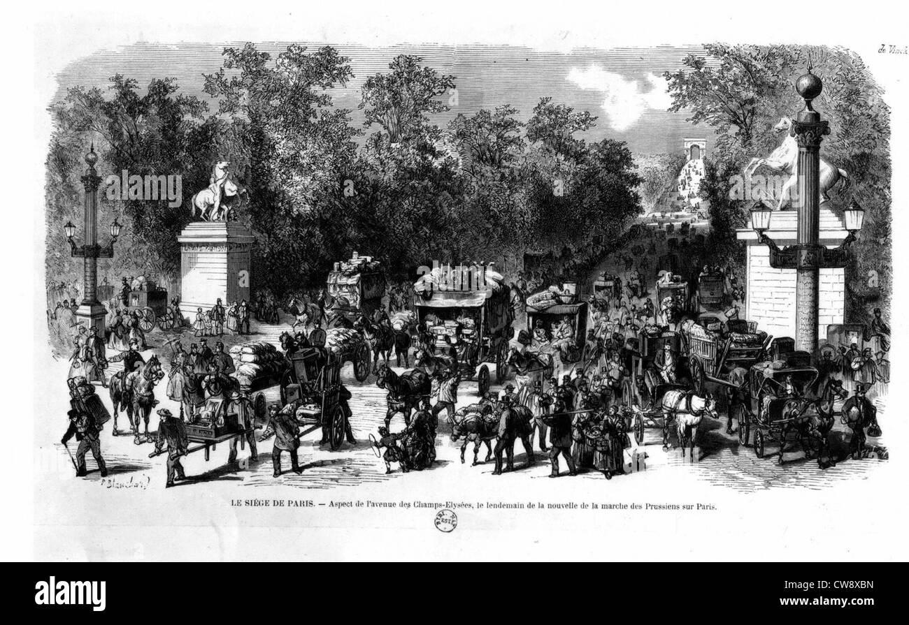 War of 1870, the siege of Paris - Stock Image