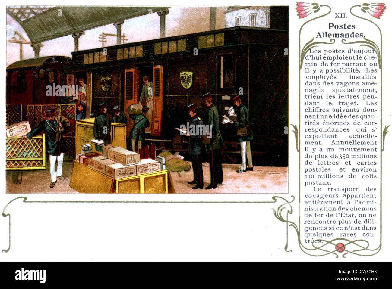 Organization of the postal service - Stock Image