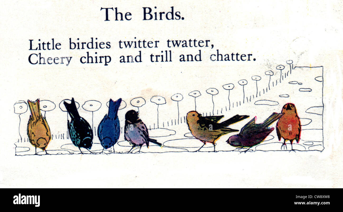 Rhymes Olive Beaupre Miller 'Sunny rhymes happy children' 'the birds' - Stock Image