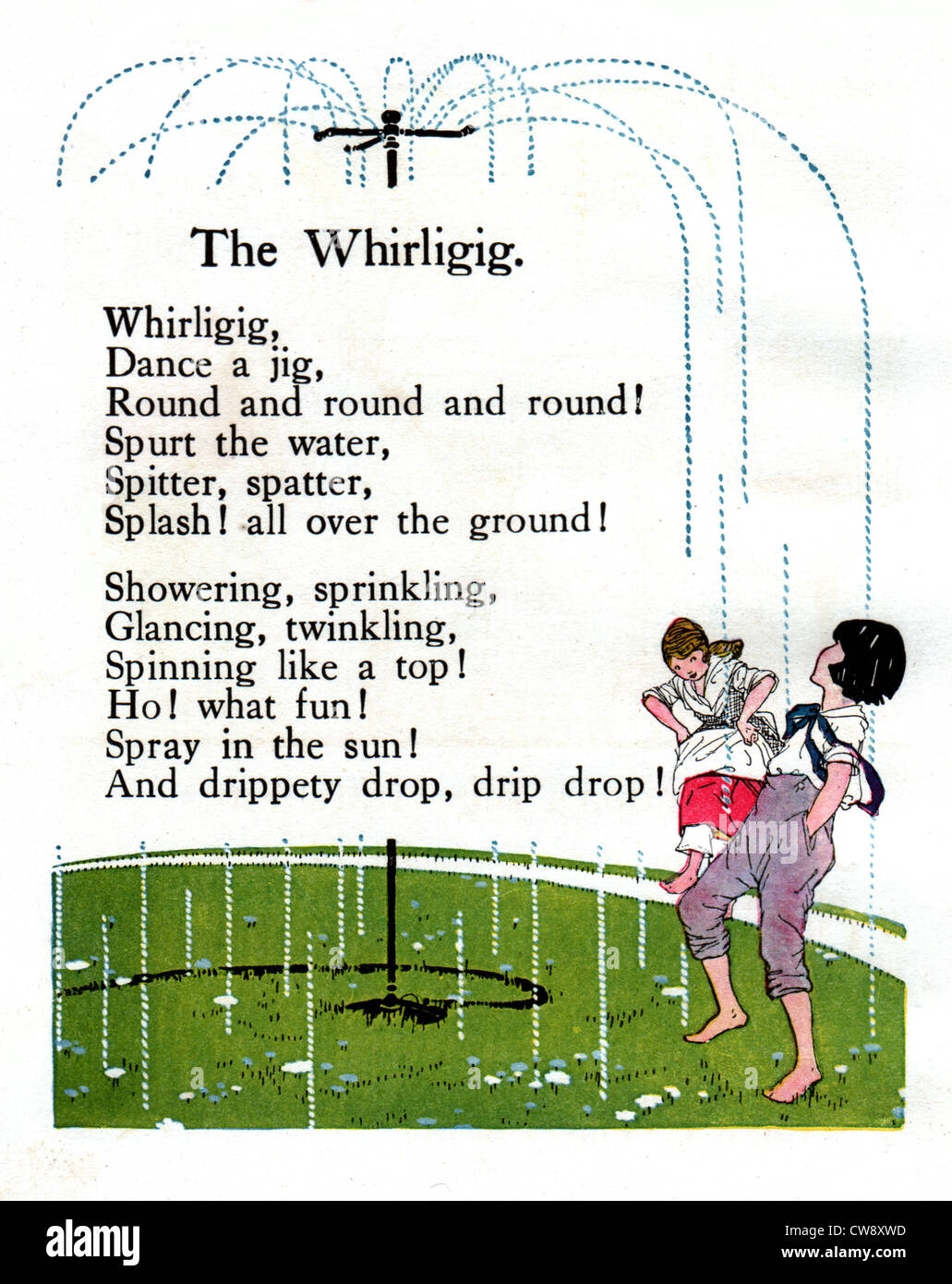 Rhymes Olive Beaupre Miller 'Sunny rhymes happy children' : 'The whirling' - Stock Image