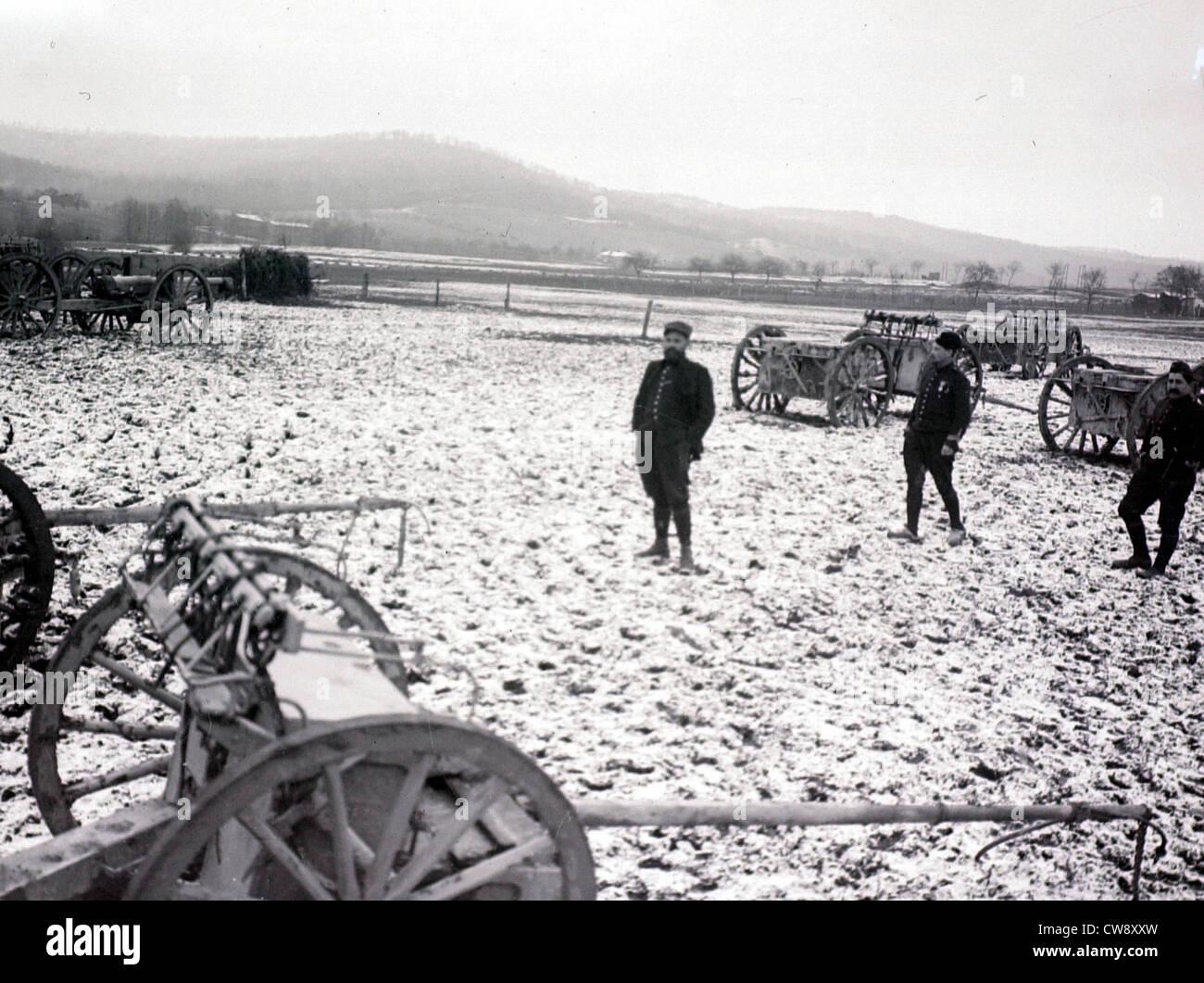 An artillery depot in Argonne - Stock Image