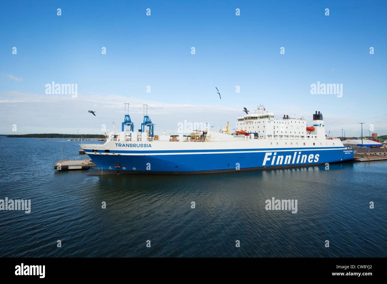 Finnlines at Vuosaari Harbour - Port of Helsinki - Stock Image