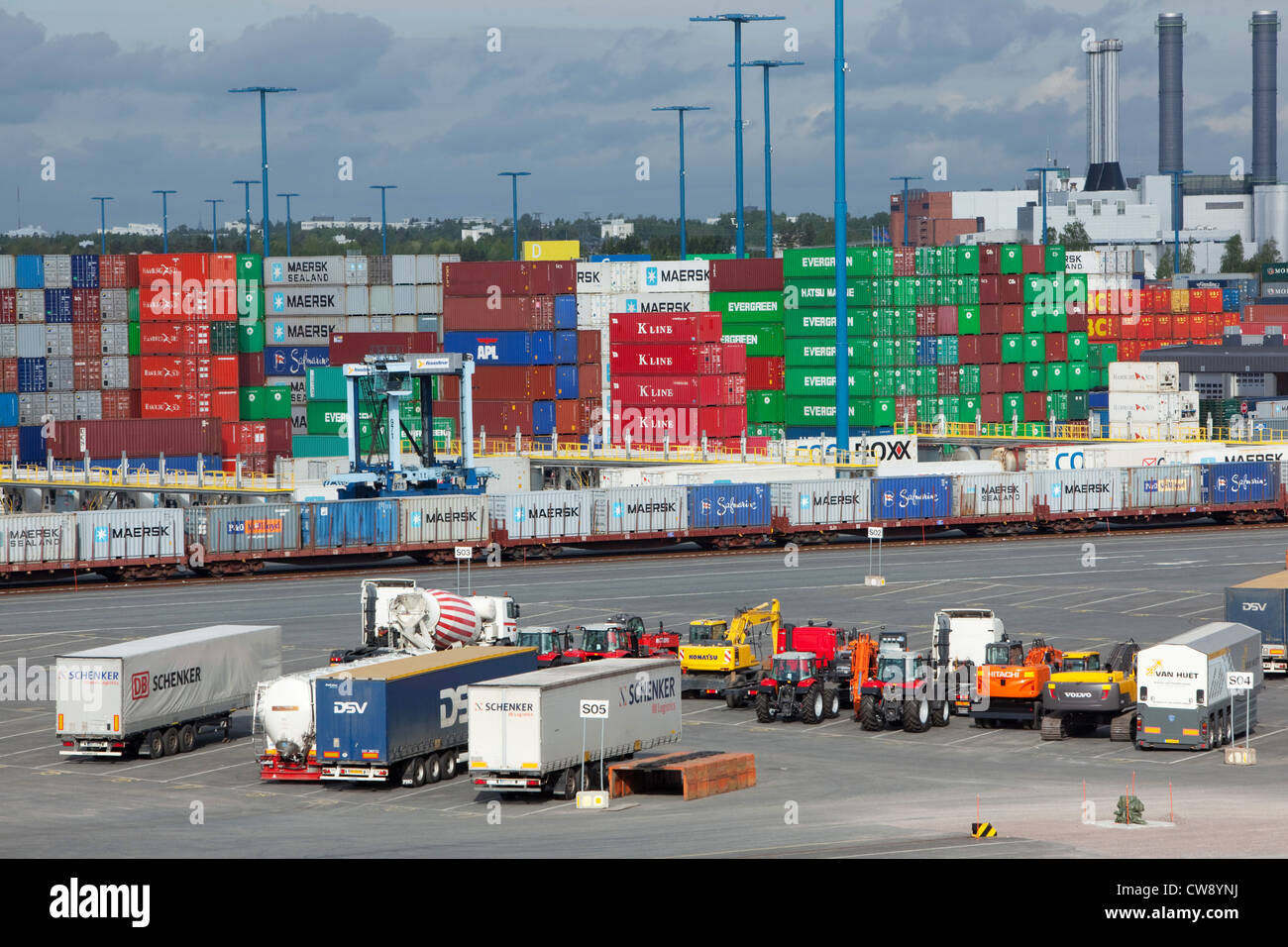 Vuosaari harbour - Port of Helsinki - Stock Image