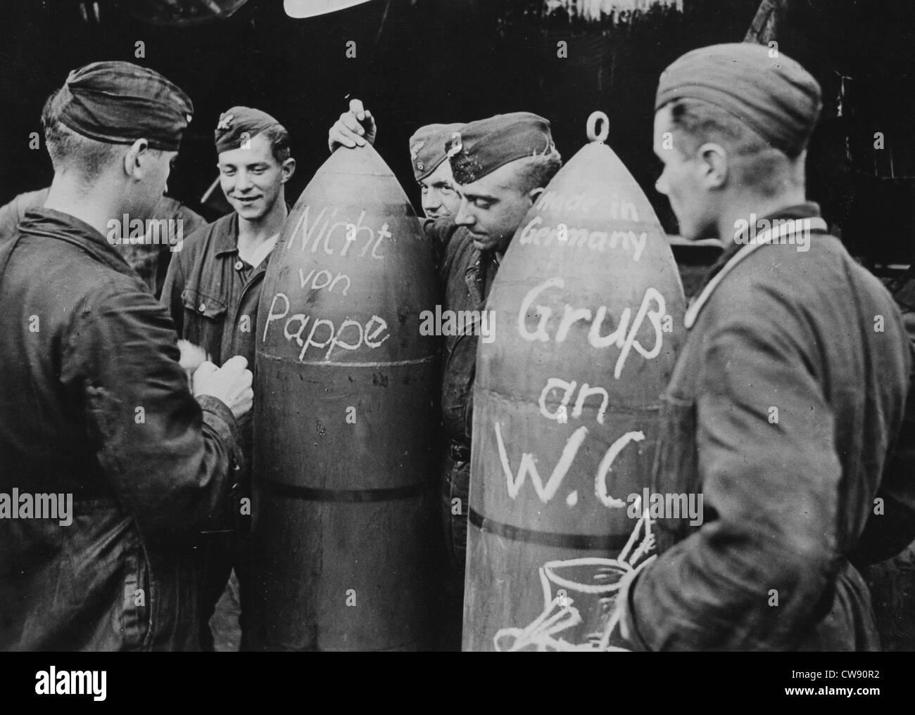 British pilotes' humour (1940) - Stock Image