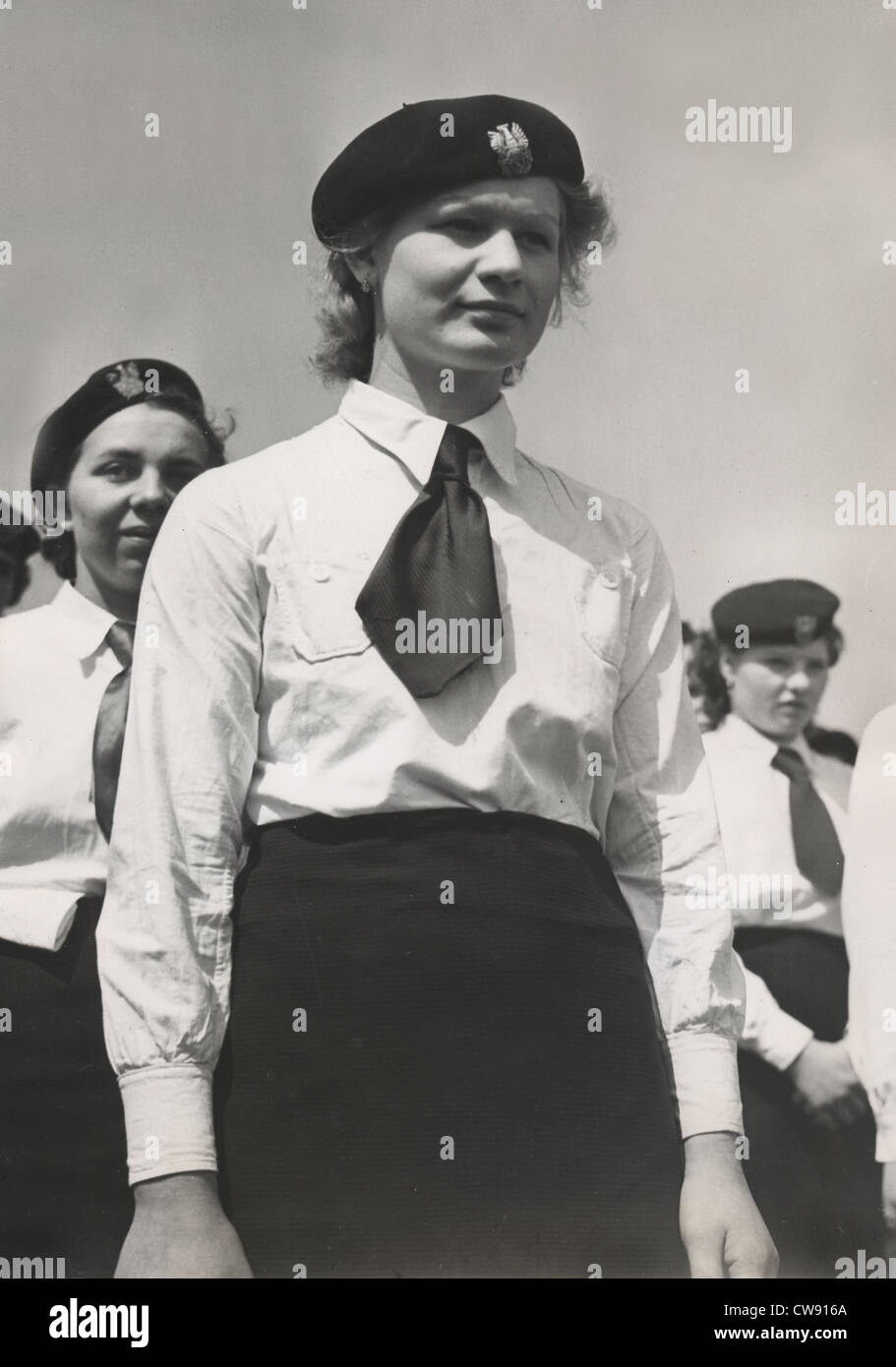 Polish youth celebration in Lens, 1939 - Stock Image
