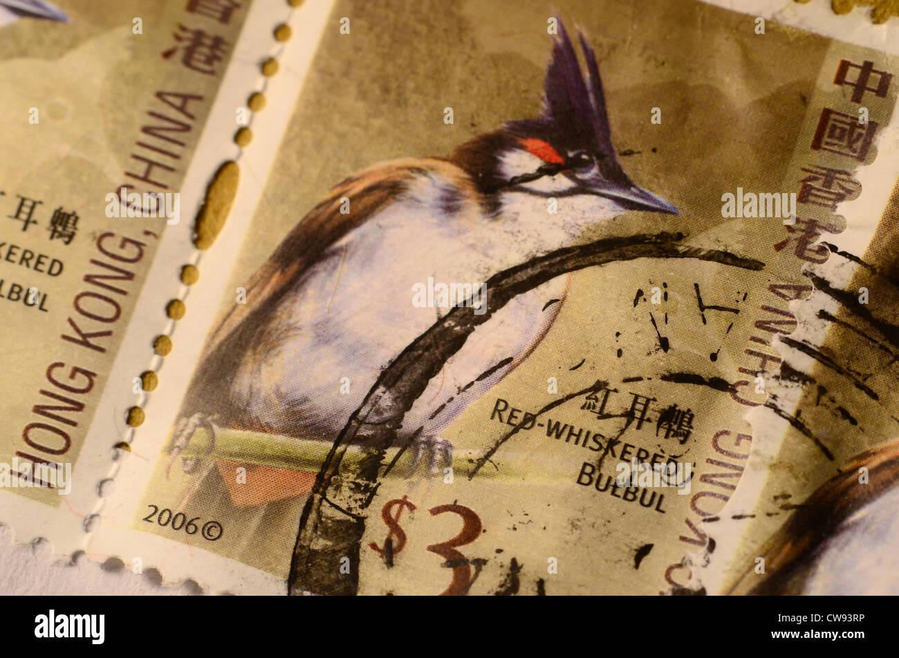 Hong Kong, China used Stamps - Stock Image