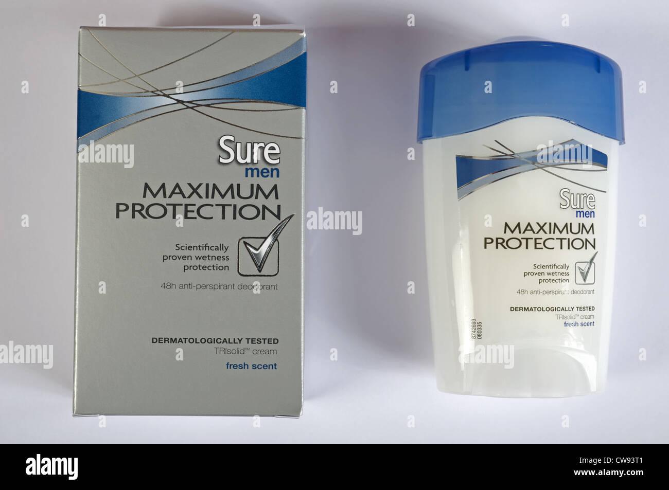 Sure Men maximum protection deodorant stick - Stock Image