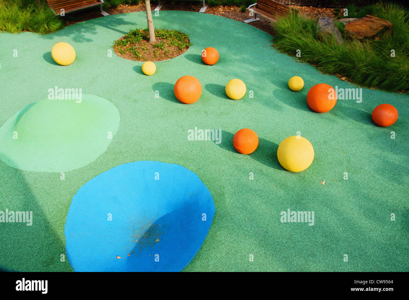 objects graphic design background child kid childrens play park myriad botanical gardens oklahoma city ok reno - Stock Image