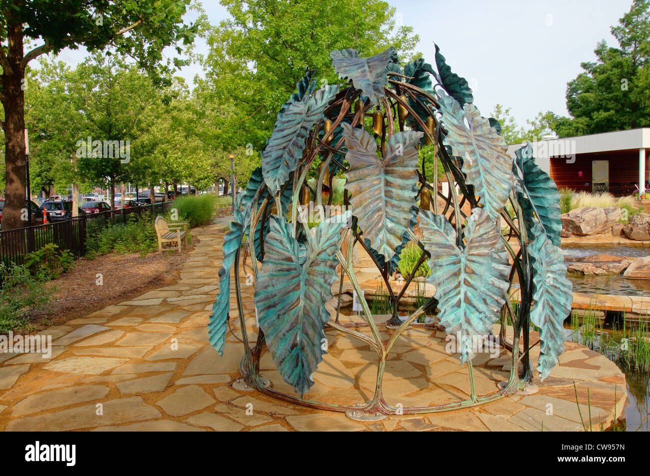 statue sculpture objects graphic design background child kid childrens play park myriad botanical gardens reno - Stock Image