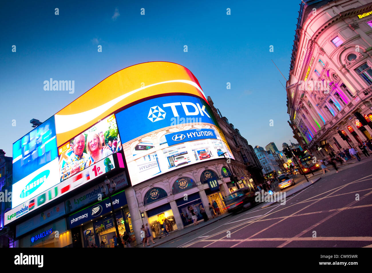 Piccadilly Circus, Central London, England, United Kingdom - Stock Image