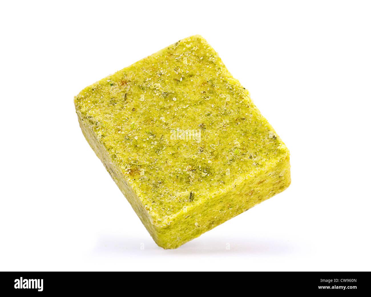 Concentrates chick flavor bouillon cube - Stock Image